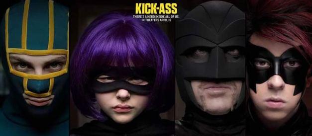 Kick ass - Hit Girl - Big Daddy - Red Mist